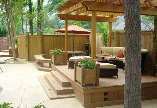 Навес для отдыха в саду